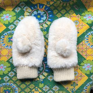 ジーユー(GU)の新品未使用 GU girls フェイクファーミトン 手袋 ジーユー(手袋)