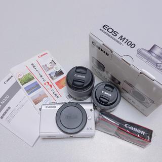 キヤノン(Canon)のCanon EOS M100 ダブルレンズキット ホワイト(ミラーレス一眼)