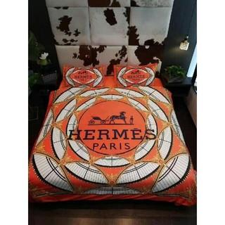 Hermes - エルメスロゴ おしゃれ【寝具カバー】 ☆4点セット☆布団カバー☆掛け布団カバー