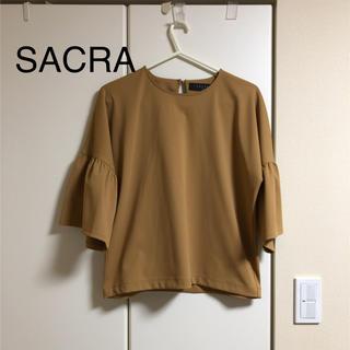 【美品】SACRAブラウス(キャメル38)サクラ