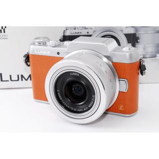 パナソニック(Panasonic)の★Wi-Fi & 自撮り★LUMIX GF7 ブラウン レンズ 人気カメラ(ミラーレス一眼)