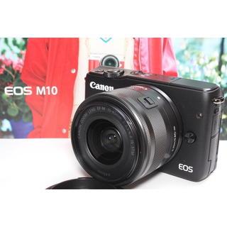 キヤノン(Canon)の❤️Wi-Fi内蔵&自撮り❤️Canon EOS M10 レンズキット ブラック(ミラーレス一眼)