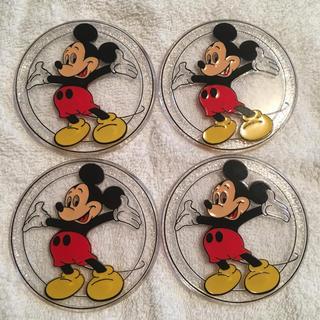 Disney - ビンテージ ミッキー コースター 4枚セット