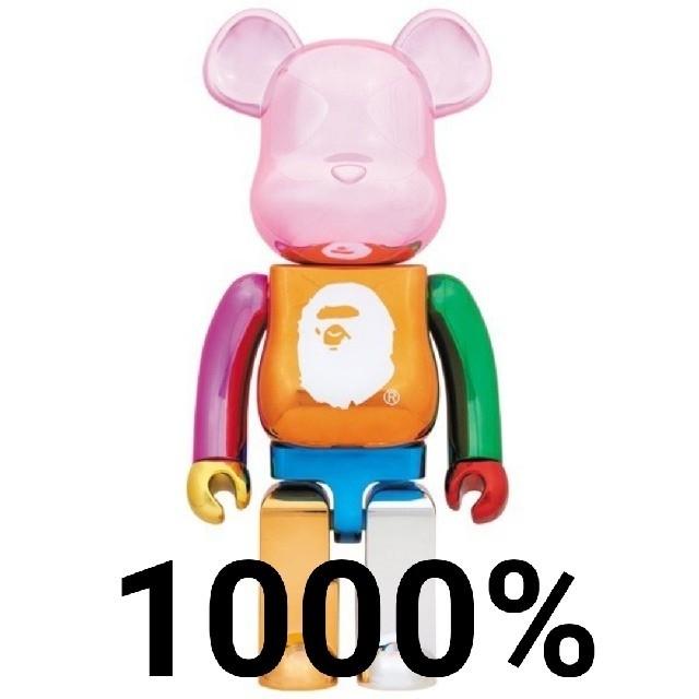 A BATHING APE(アベイシングエイプ)のAPE MULTI COLOR FOIL BE@RBRICK 1000% エンタメ/ホビーのおもちゃ/ぬいぐるみ(キャラクターグッズ)の商品写真