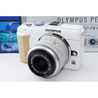 オリンパス(OLYMPUS)の★Wi-Fi対応★OLYMPUS オリンパス E-PL1s ホワイト レンズ(ミラーレス一眼)