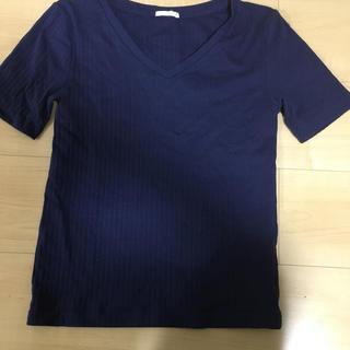 ジーユー(GU)のGU リブカットソー(カットソー(半袖/袖なし))
