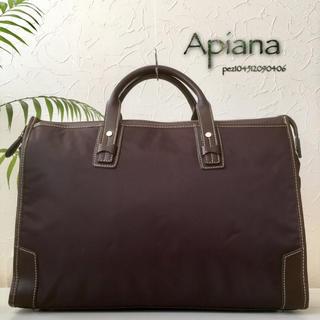 アピアナ(Apiana)の◇超美品◆ Apiana アピアナ 定約2.5万 牛革使い レザービジネスバッグ(ビジネスバッグ)