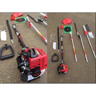 草刈機(チップソー、ナイロンカッター) バリカン芝刈り機 チェーンソー4点セット(工具/メンテナンス)