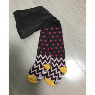 シマムラ(しまむら)の新品 ジグザグ柄タイツ (靴下/タイツ)
