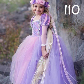 Disney - ラプンツェル ドレス 長袖 塔の上のラプンツェル ♡ 110