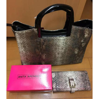 アニタアレンバーグ(ANITA ARENBERG)のアニタアレンバーグ パイソン柄 限定品(ハンドバッグ)
