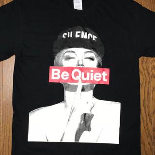日本未入荷!Be Quiet フォトプリントTシャツ(黒)