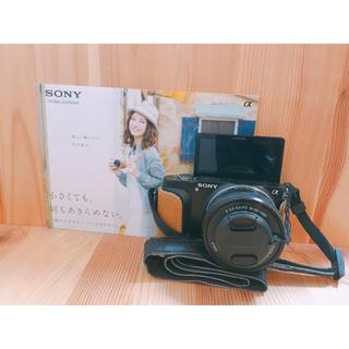ソニー(SONY)の美品♡自撮り可!ケース、レンズプロテクター付き♡SONYミラーレス一眼♡(ミラーレス一眼)