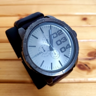 ディーゼル(DIESEL)の【送料込み】ディーゼル DIESEL クロノグラフ 腕時計 ガンメタ ブラウン(腕時計(アナログ))