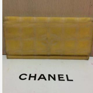 シャネル(CHANEL)の本物シャネル黄色ニュートラベルラインの長財布 (財布)