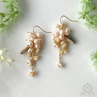 【Mhe-102a/ラスト①】MINORI/shell&pearl(ピアス)
