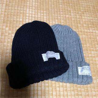 ジーユー(GU)のGUニット帽2セット(ニット帽/ビーニー)