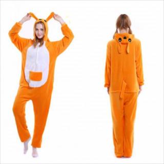 着ぐるみ 大人用 カンガルー パジャマ アニマル フリース 冬 プレゼント 動物(ルームウェア)