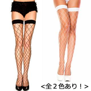 【MUSIC LEGS】全2色! ビッグダイアモンドネット タイハイストッキング(タイツ/ストッキング)