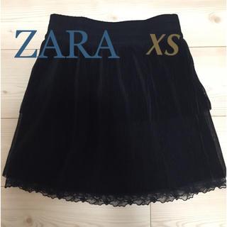ザラ(ZARA)のザラ スカート プリーツ レース XS(ミニスカート)