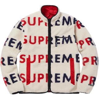 シュプリーム(Supreme)のL Supreme Reversible Logo Fleece Jacket(ブルゾン)