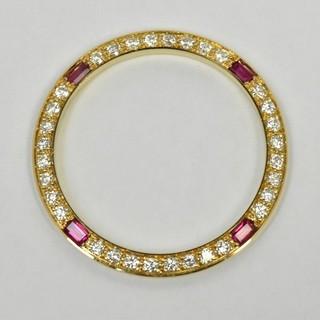 K18 ゴールド 750 ダイヤモンド ルビー ベゼル 腕時計用  (その他)