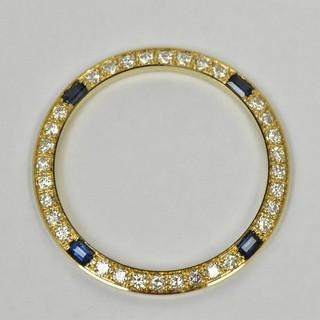 K18 ゴールド 750 サファイア ダイヤモンド ベゼル 腕時計用  (その他)