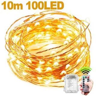 ★即日発送★ 電球色 LED イルミネーションライト 10m 100個(蛍光灯/電球)