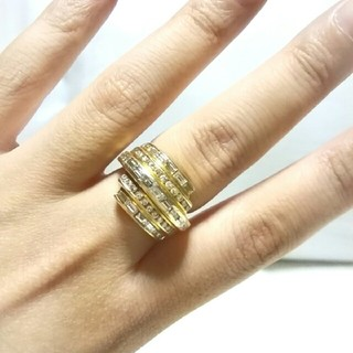 K18.ダイヤ.リング❤極美品❤(リング(指輪))