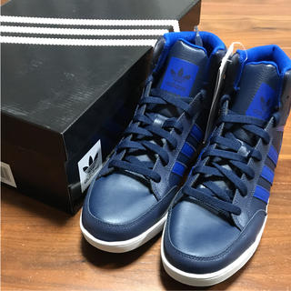 アディダス(adidas)のadidas スニーカー VARIAL MID ブルー28cm 新品(スニーカー)