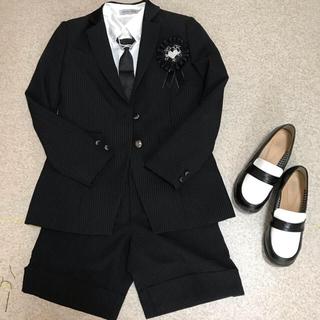 26e4cf7189217 イオン(AEON)の美品☆女の子フォーマルハーフパンツスーツ、靴セット
