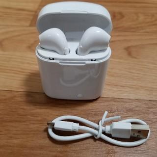 airpods型 ワイヤレスイヤホン Bluetooth 新品未使用(ヘッドフォン/イヤフォン)
