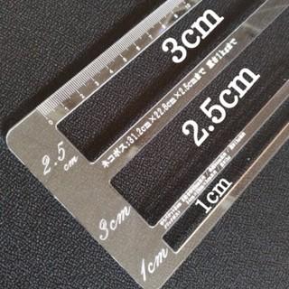 厚さ測定定規 ふりまスケール アクリル3種 便利! 即購入OK(オーダーメイド)