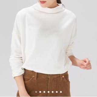 MUJI (無印良品) - 新品  モダールコットンスムースモックネックTシャツ