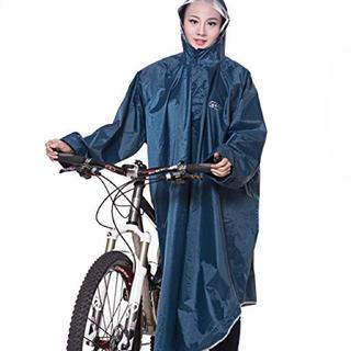 QIAN レインコート 自転車 バイク ロング ポンチョ 男女兼用(レインコート)