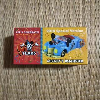 ディズニー(Disney)のミッキー90周年 トミカ ミッキーズ ロードスター(ミニカー)