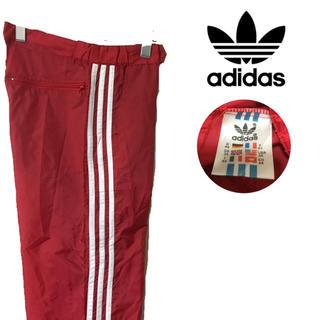 アディダス(adidas)の90's 万国旗タグ adidas アディダス ナイロン パンツ 三本線 レッド(その他)