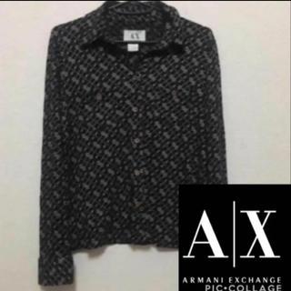 アルマーニエクスチェンジ(ARMANI EXCHANGE)のAX アルマーニ☆柄シャツ Mサイズ(カットソー(長袖/七分))