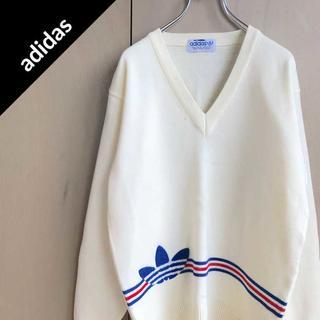 アディダス(adidas)のアディダス 【80s】 ビッグロゴ ニット スウェット トレーナー パーカー(ニット/セーター)
