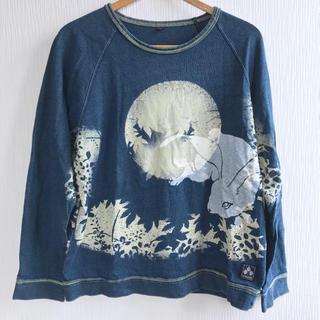チキリヤ(CHIKIRIYA)のちきりや  満月と兎プリントトレーナー(Tシャツ/カットソー(七分/長袖))