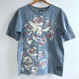 チキリヤ(CHIKIRIYA)のちきりや 刺繍骸骨と兎のTシャツ(Tシャツ/カットソー(半袖/袖なし))