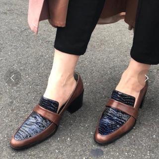 アメリヴィンテージ(Ameri VINTAGE)のAmeri  vintage レザークロコローファー M(ローファー/革靴)