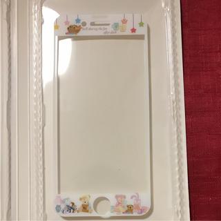 ディズニー(Disney)のiPhone ガラス保護シート オータムスリープオーバー ダッフィー (保護フィルム)