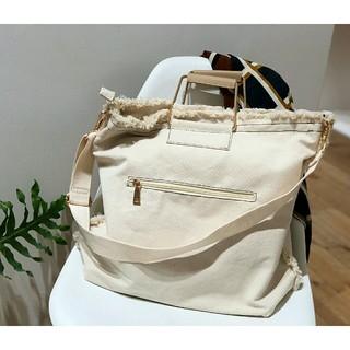 TODAYFUL - 【美品】完売TODAYFUL ステッチキャンバスバッグ ショルダーバッグ旅行