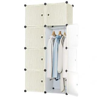 Pexfix 収納ボックス 扉付き 収納棚 衣類収納ラック ワードローブ 72