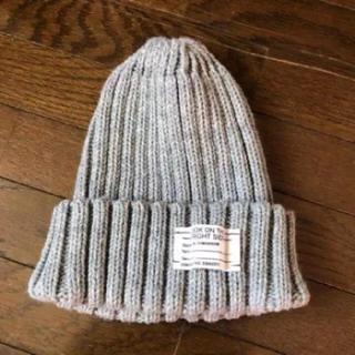 ジーユー(GU)のニット帽 グレー gu (ニット帽/ビーニー)