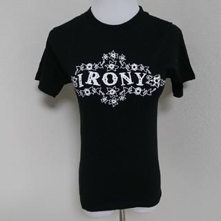 アイロニー(IRONY)の新品タグ付き半額以下IRONYアイロニー半袖Tシャツ黒サイズ1(Tシャツ(半袖/袖なし))