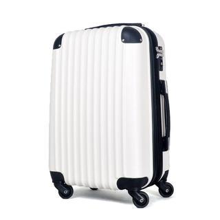 小型軽量スーツケース TSAロック付き Sサイズ 白