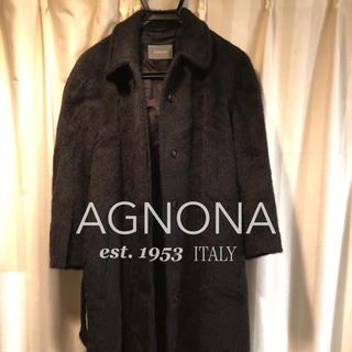 アニオナ(Agnona)のAGNONA alpaca ステンカラーコート(ロングコート)