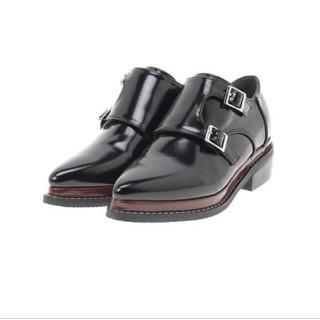 アズールバイマウジー(AZUL by moussy)のアズールバイマウジー ダブルモンク 黒 ローファー(ローファー/革靴)